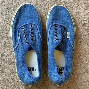 403c060b45ccdf Vans hemp shoes women s sz 8.5 blue slip on shoes
